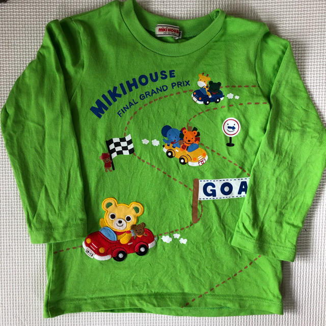 mikihouse(ミキハウス)のミキハウス ロンT 100cm キッズ/ベビー/マタニティのキッズ服男の子用(90cm~)(Tシャツ/カットソー)の商品写真