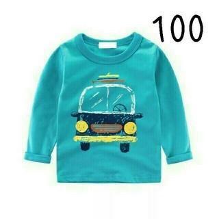 ゲリラセール【新品】(100)くるまのロングTシャツ(Tシャツ/カットソー)