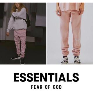 フィアオブゴッド(FEAR OF GOD)のessentials XS スウェットパンツ 希少カラー 希少サイズ ピンク(その他)