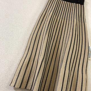 GRACE CONTINENTAL - ラメタックストライプスカート