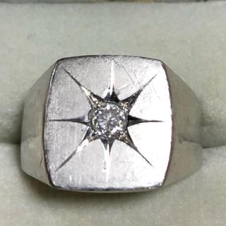 プラチナ印台ダイヤリング(リング(指輪))