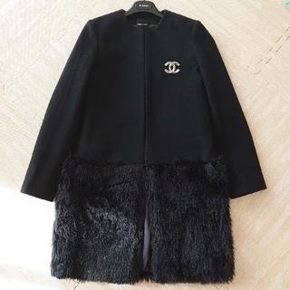 YOKO  CHAN ヨーコチャン/ファー ノーカラー コート
