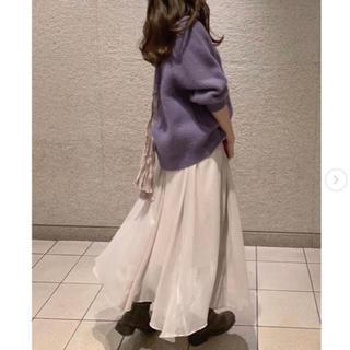 snidel - タグ付新品 シャイニーイレヘムロングスカート