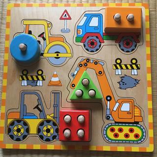 アクタス(ACTUS)のアクタス 木製こどもの乗り物パズル(知育玩具)