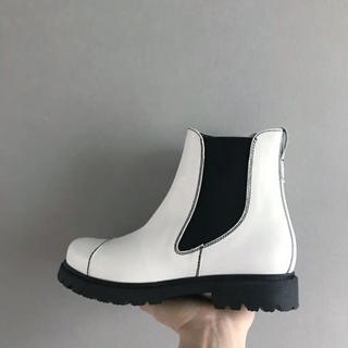 Marni - ⚫︎MARNI⚫︎白の黒ステッチのブーツ 38