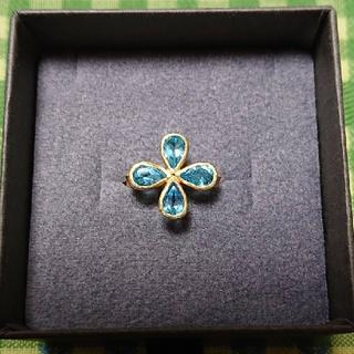ブルーム(BLOOM)の【tanje】K18×ブルートパーズ×ダイヤモンド フラワーモチーフ リング(リング(指輪))