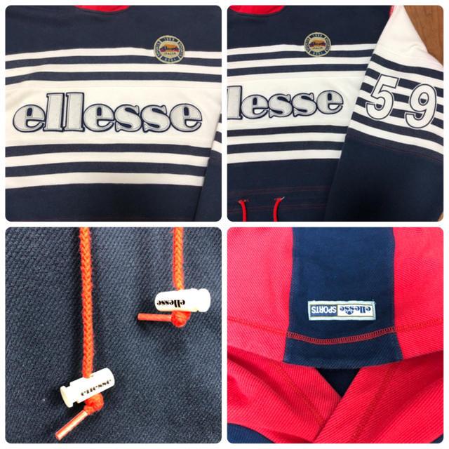 ellesse(エレッセ)のエレッセ ellesse 90s ビッグロゴ 日本製 ゴールドウイン  パーカー メンズのトップス(パーカー)の商品写真