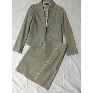 INDIVI - スーツ ジャケット INDIVI ジップ スカート セットアップ グレー スーツ