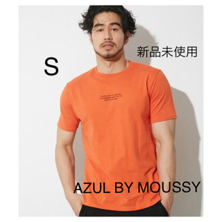 AZUL by moussy - 【新品】AZUL BY MOUSSY スモールタイポクルーネック半袖T