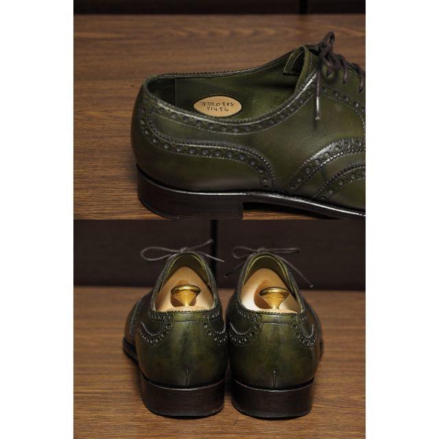 EDWARD GREEN(エドワードグリーン)のEdward Green サンドリンガム 7D888 オリーブグリーン メンズの靴/シューズ(ドレス/ビジネス)の商品写真