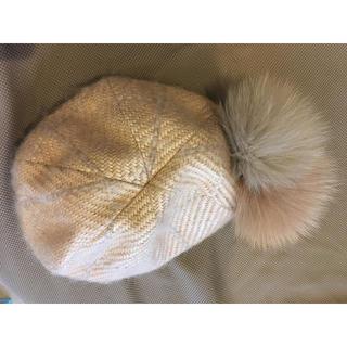 CA4LA - ca4laファー付きミニベレー帽 ベージュ