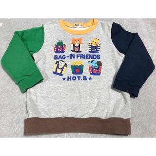 HOT BISCUITS - ★ホットビスケッツ★トレーナー★110★中古★ミキハウス★ホットビ★動物 キリン