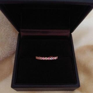 ピンクサファイア ブルームーンストーン ハーフエタニティ 指輪 さくら(リング(指輪))