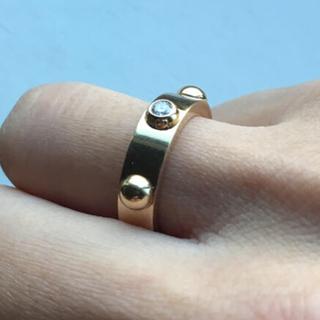 ルイヴィトン(LOUIS VUITTON)のルイヴィトン 9号 リング 1P イエローゴールド ダイヤ プティット バーグ (リング(指輪))