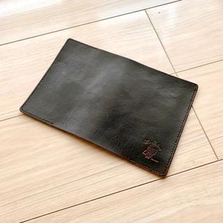 ヌメ革ブックカバー(ダークブラウン)A6サイズ(ブックカバー)