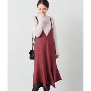 IENA - IENA ストレッチツイードカラージャンパースカート
