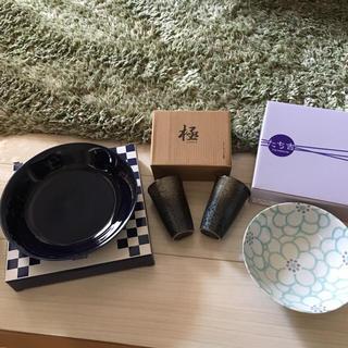 アクタス(ACTUS)の新品未使用 食器セット  美濃焼  中皿 ビールコップ  陶器 陶芸(食器)