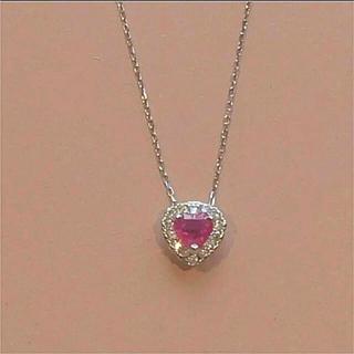 PonteVecchio - 激安新品❤️18金ハートルビーダイヤモンドネックレス K18WG