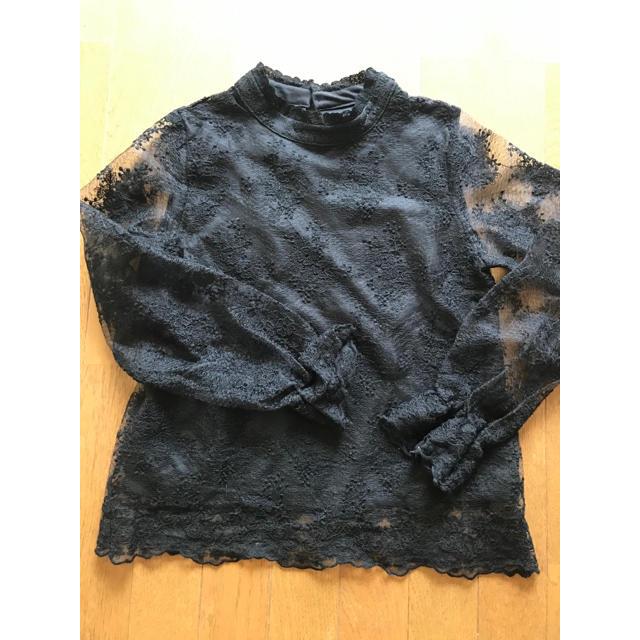 one*way(ワンウェイ)のワンウェイ ブラックレース シャツ レディースのトップス(シャツ/ブラウス(長袖/七分))の商品写真
