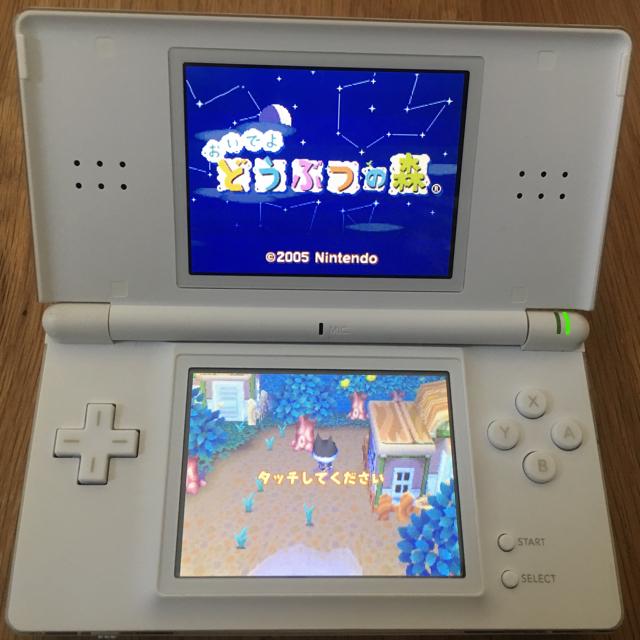ニンテンドーDS(ニンテンドーDS)の任天堂 DS Lite ⭐️「どうぶつの森」 ソフト付き エンタメ/ホビーのゲームソフト/ゲーム機本体(携帯用ゲーム機本体)の商品写真