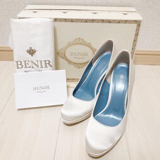 ベニル BENIR 33 22センチ 12cmヒール  12センチ サテン(ハイヒール/パンプス)