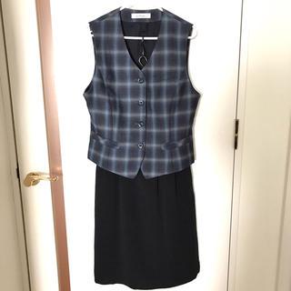 事務服☆anfuniベスト+folkスカート2点セット☆制服