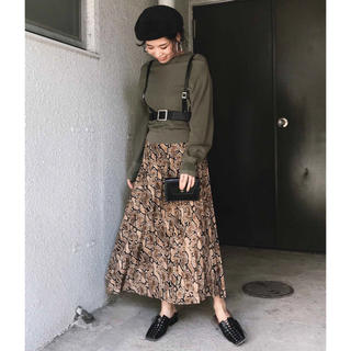 Ameri VINTAGE - PYTHON PLEATS SKIRT 新品タグ付き