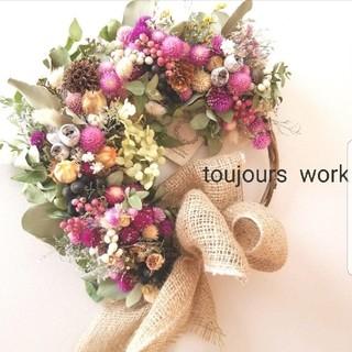 ドライフラワーリース◇natural  flower◆◇(ドライフラワー)