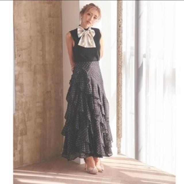 eimy istoire(エイミーイストワール)のりいな様専用eimy istoire フロッキードットラッフルスカート   レディースのスカート(ロングスカート)の商品写真