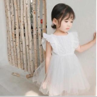 ワンピース  ドレス ホワイト 80