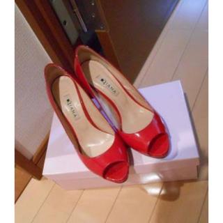 ダイアナ(DIANA)のDiana ダイアナ パンプス red レッド 赤 ヒール(ハイヒール/パンプス)