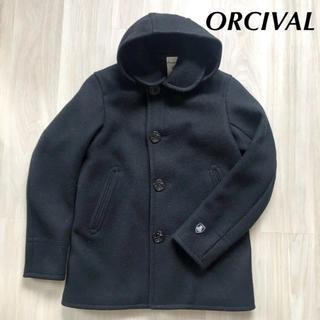 オーシバル(ORCIVAL)のORCIVAL オーチバル メルトン コート ブラック(ピーコート)
