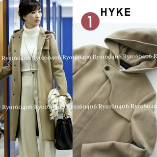 HYKE - 1回美品⭐️86400円/ハイク/メルトンフードコート/1/S/ベージュ