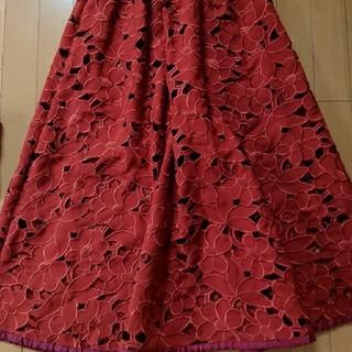 Ameri VINTAGE - アメリヴィンテージ フラワーブロッキングスカート ペチコート付き 美品
