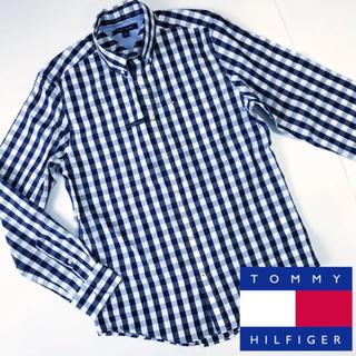 TOMMY HILFIGER - 新品 トミーヒルフィガー チェックシャツ メンズ ネイビー ビジネス
