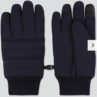 ユニクロ(UNIQLO)のユニクロ UNIQLO 手袋 ヒートテックキルティンググローブ ネイビー M(手袋)