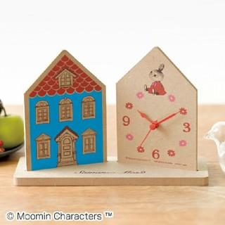 タカラジマシャ(宝島社)のリンネル付録 ムーミンハウス型 置き時計  (キャラクターグッズ)