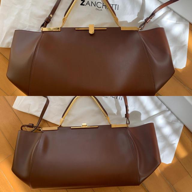 DEUXIEME CLASSE(ドゥーズィエムクラス)のザンチェッティ ZANCHETTI 定番3WAY ハムレットMブラウン レディースのバッグ(ハンドバッグ)の商品写真