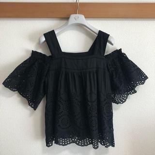 GRACE CONTINENTAL - 美品 グレースコンチネンタル ブラウス 刺繍レース シャツ 花柄 フラワー 黒色