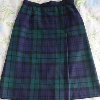 ヨークランド(Yorkland)のブラックウォッチ スカート 11AR(ひざ丈スカート)