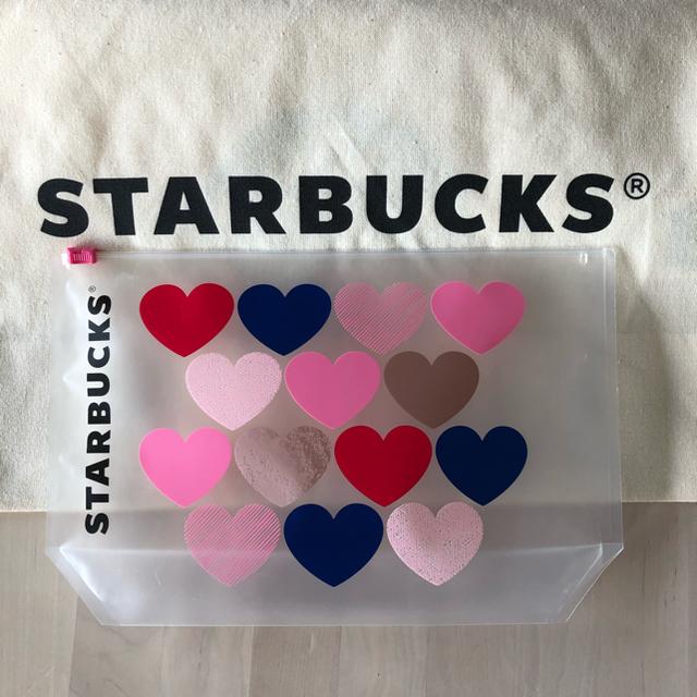 Starbucks Coffee(スターバックスコーヒー)のスターバックスバレンタイン2020 ポーチのみ エンタメ/ホビーのコレクション(ノベルティグッズ)の商品写真