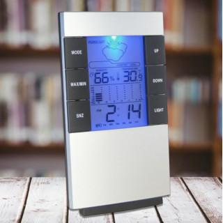 多機能 デジタル 温度・湿度計 置き時計 壁掛け可
