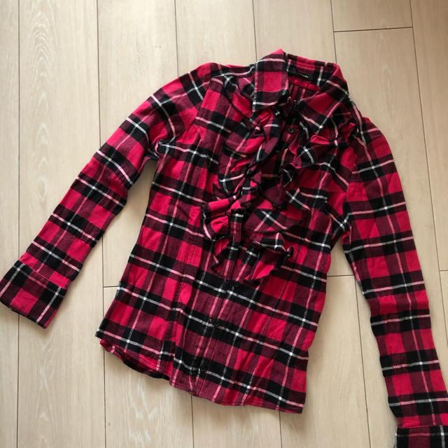 rienda(リエンダ)のチェックシャツ レディースのトップス(シャツ/ブラウス(長袖/七分))の商品写真