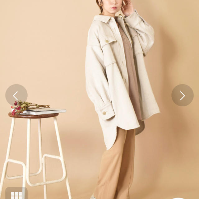 w closet(ダブルクローゼット)の新品☆ダブルクローゼット ビッグシャツジャケット レディースのジャケット/アウター(その他)の商品写真