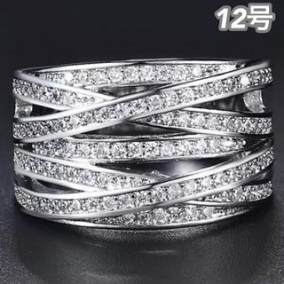 ★定価7580円★【SWAROVSKI】12号 クリスタルリング ジェム 指輪(リング(指輪))