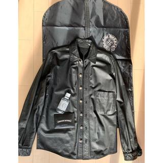 クロムハーツ(Chrome Hearts)のクロムハーツ  レザー シャツ ジャケット 正規品 バック アクセサリー(レザージャケット)