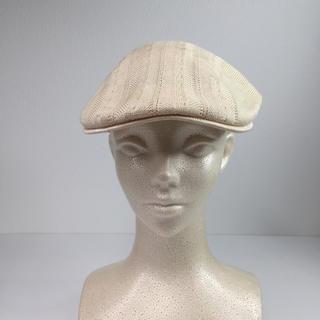 カシラ(CA4LA)のカシラ CA4LA ハンチング ベージュ シルク混 Sサイズ(ハンチング/ベレー帽)