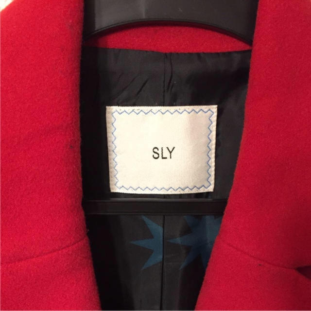 SLY(スライ)のスライ  レッドコート レディースのジャケット/アウター(チェスターコート)の商品写真