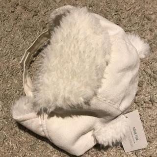 オールドネイビー(Old Navy)の【新品】オールドネイビー 熊さんお帽子 6〜12ヶ月(帽子)
