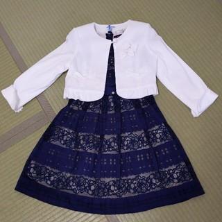 mezzo piano - メゾピアノ ポンポネット 女の子入学式ジャンパースカートとおまけのボレロ